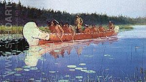 Great Explorers - Frederic Remington reproduction oil painting