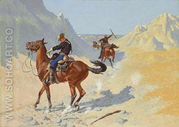 The Advance Guard 1890 - Frederic Remington reproduction oil painting