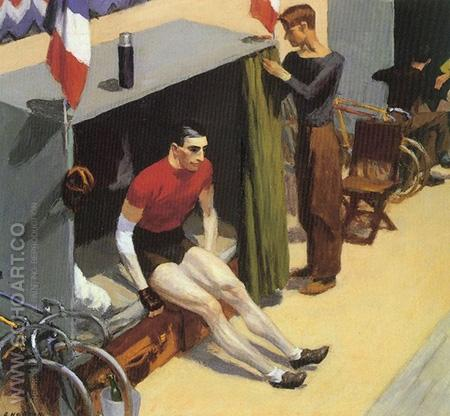 French Six Day Bicycle Racer - Edward Hopper reproduction oil painting