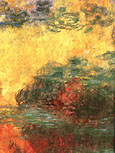 Waterlily Pond Evening detail - Claude Monet reproduction oil painting