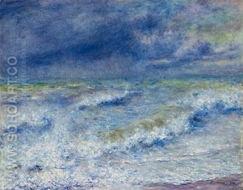 The Wave Seascape - Pierre Auguste Renoir reproduction oil painting
