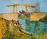 The Langlois Bridge April 1998 - Vincent van Gogh reproduction oil painting