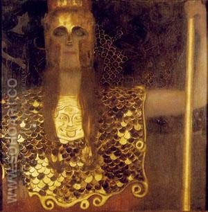 Pallas Athene 1898 - Gustav Klimt reproduction oil painting
