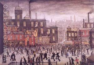 Our Town - L-S-Lowry reproduction oil painting