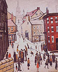 Berwick - L-S-Lowry reproduction oil painting