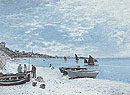 The Beach at Sainte-Adresse 1867 - Claude Monet reproduction oil painting
