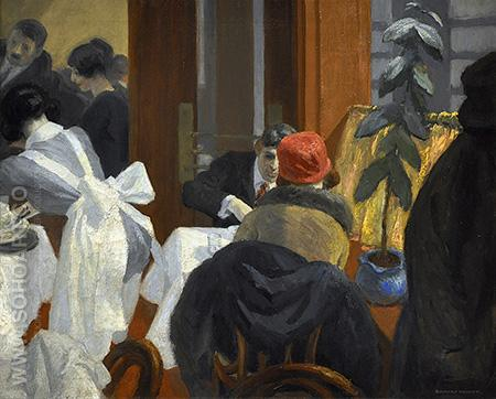 The New York Restaurant 1922 - Edward Hopper reproduction oil painting