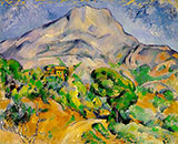 Mont Sainte-Victoire 1900 - Paul Cezanne reproduction oil painting
