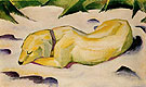 Dog Lying in the Snow - Franz Marc reproduction oil painting