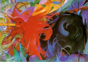Fighting Forms 1914 - Franz Marc reproduction oil painting
