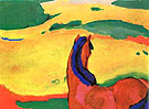 Horse in the Country - Franz Marc reproduction oil painting