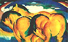 The Small Yellow Horse 1912 - Franz Marc reproduction oil painting