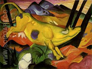 The Yellow Cow - Franz Marc reproduction oil painting