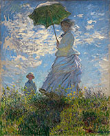 The Walk Lady with a Parasol 1875 - Claude Monet reproduction oil painting