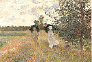 Promenade Argenteuil 1873 - Claude Monet reproduction oil painting