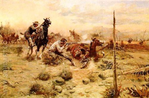 When Horse Flesh Comes High - Charles M Russell reproduction oil painting