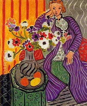 Purple Robe and Anemones 1937 - Henri Matisse reproduction oil painting