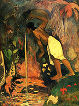 Pape Moe Mysterious Water - Paul Gauguin reproduction oil painting