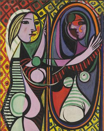 Girl before a Mirror 1932 - Pablo Picasso reproduction oil painting