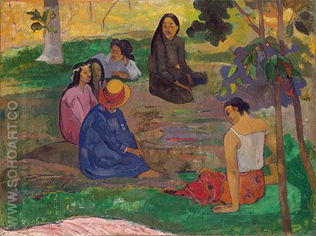 Les Parau Parau 1891 - Paul Gauguin reproduction oil painting