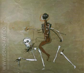 Riding With Death 1988 - Jean-Michel-Basquiat reproduction oil painting