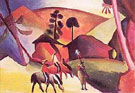 Indians on Horseback - August Macke reproduction oil painting