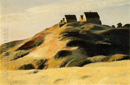 Corn Hill Truro, Cape Cod 1930 - Edward Hopper reproduction oil painting