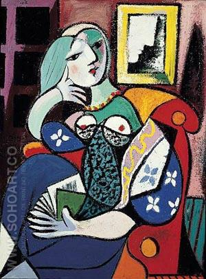 Woman with Book 1932 - Pablo Picasso reproduction oil painting