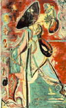 The Moon Woman 1942 - Jackson Pollock