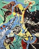 Composition mit blau - Jackson Pollock