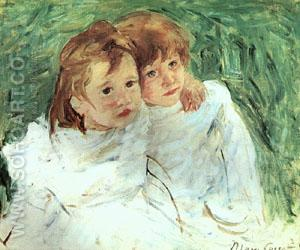 Sisters - Mary Cassatt reproduction oil painting
