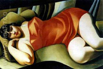 Tunique Rose - Tamara de Lempicka reproduction oil painting