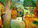 The Terrace at Vernon - Pierre Bonnard reproduction oil painting
