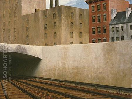 Approaching the City - Edward Hopper reproduction oil painting