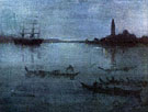 Nocturne in Blue and Silver: The Lagoon Venice - James McNeill Whistler reproduction oil painting