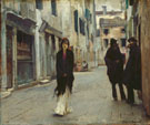 Street in Venice 1882 - John Singer Sargent reproduction oil painting