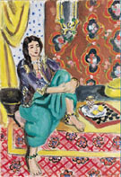 Seated Odalisque - Henri Matisse reproduction oil painting