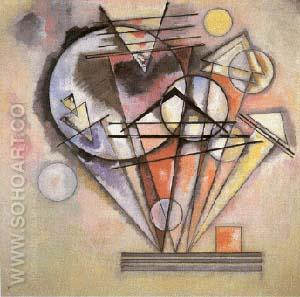 Sur les pointes - Wassily Kandinsky reproduction oil painting