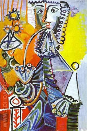 Cavalier with Pipe - Pablo Picasso reproduction oil painting