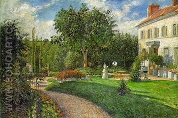 Garden of Les Mathurins at Pontoise - Camille Pissarro reproduction oil painting
