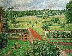 View from my Window Eragny - Camille Pissarro reproduction oil painting