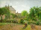 Artist`s Garden at Eragny - Camille Pissarro reproduction oil painting