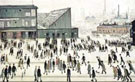 The Football Match - L-S-Lowry reproduction oil painting