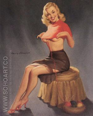 They Tell Me I'm a Standout 1959 - Pin Ups reproduction oil painting