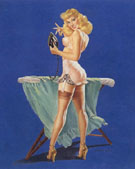A Pressing Need 1945 - Pin Ups reproduction oil painting