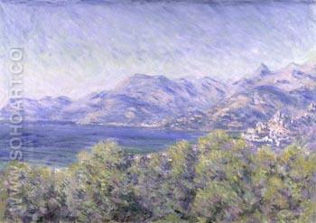 View of Ventimiglia - Claude Monet reproduction oil painting