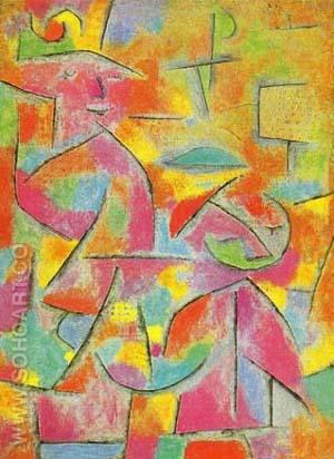 Aunt and Child - Paul Klee reproduction oil painting