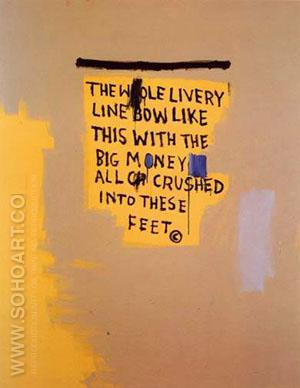 The Whole Livery Line 1987 - Jean-Michel-Basquiat reproduction oil painting