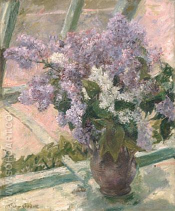 Lilacs in a Window 1880 - Mary Cassatt reproduction oil painting