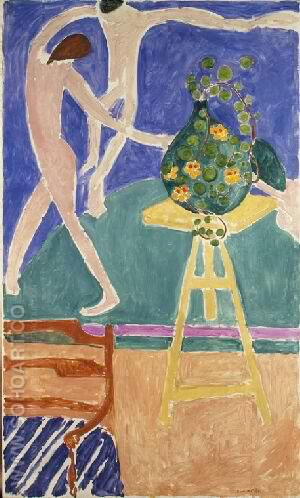 Vase of  Nasturtiums with Dance 1912 - Henri Matisse reproduction oil painting